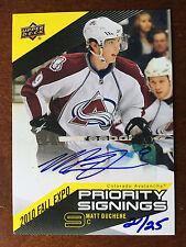 2010 Upper Deck Priority Signings Fall Expo Autograph Matt Duchene Auto 20/25