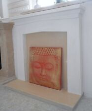 F21 Saxon Fire Surround in Plaster - BIRMINGHAM COLLECTION ONLY
