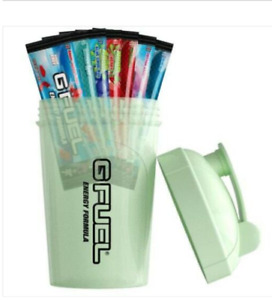 G FUEL Glow In The Dark Starter Kit Shaker Cup 7 Sachets Genuine UK GFUEL Seller
