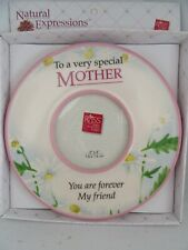 """Mothers Oval Picture Frame  3"""" x 3"""" Picture Slot Natural Expressions Russ Gifts"""