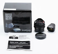 (94) NEW Voigtlander Super Wide-Heliar 15/4.5 Asph. Leica SM caps finder IB box