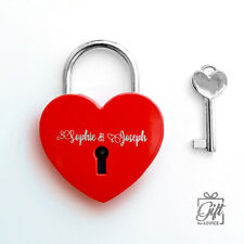 More details for love lock personalised customize laser engraved padlock valentine's day