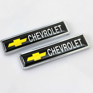 2x Car Side Sticker Side Fender Emblem Badge Logo Accessories For Chevrolet