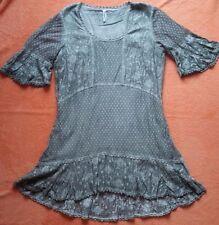 Tunika Kleid,100% Baumwoll - Spitze, von Body Needs in Oliv, Gr. 44 NEU