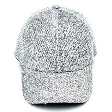 Fashion Women Men Glitter Snapback Hat Baseball Cap Hip-Hop Dance Adjustable
