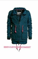 NEW WOMENS £144.99 LARGE SIZE SUPERDRY FREEFALL 2 In 1 PARKA JACKET PETROL MIX