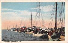 c.1920 Fishing Boats in Harbor Anglesea NJ post card