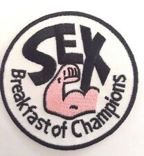 SEX BREAKFAST OF CHAMPIONS✔️FUNNY HUMOUR Sew / Iron ON Patch Badge.AUSSIE SELLER