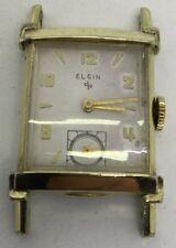 Elgin G.F. Mens Rectangle Wrist Watch 1950s (W214)
