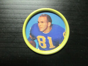 1962 SALADA TEA & JUNKET DESSERTS FOOTBALL COIN #46 CARROLL DALE LOS ANGELES EX