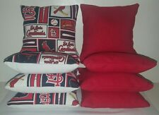 SET OF 8 ST. LOUIS CARDINALS CORNHOLE BEAN BAGS ***FREE SHIPPING***