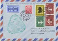 "BUNDESREPUBLIK 1956 Erstflug Deutsche Lufthansa ""DÜSSELDORF – DAKAR (Senegal)"""
