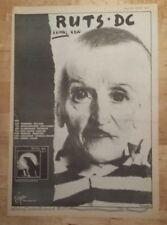 Ruts DC Animal now tour 1981 press advert Full page 28 x 39 cm mini poster