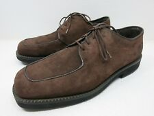 Hush Puppies Solid Brown Suede Leather Vintage Oxfords Shoes Zapatos Vestir 11 M