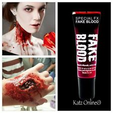 Katz 1 Sangre Falsa 10ml Halloween Cuerpo Y Rostro Pintura Fancy Dress componen Vampiro