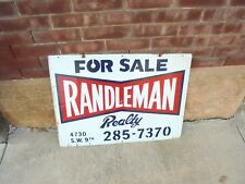 metal sign for sale randleman realty double sided des moines iowa real estate