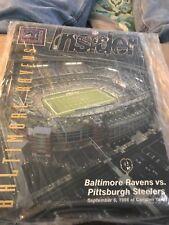 Baltimore Ravens vs Pittsburgh Steelers 9/6/98 Program SEALED First Game Stadium