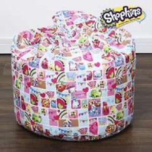 SHOPKINS Girls Bean Bag Cover Lounge Living Bedroom Toy Room Home Decor