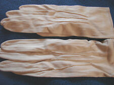 Vintage Edwardian 20s Gloves Rayon Cloth SNAPS XS Tan