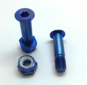 HOPE: 2 Axles+Nuts in TITANIUM for 2 BrakeLevers. 43% lighter! 4colors on choice