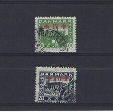 DANEMARK Yvert  n° 130/131 oblitéré
