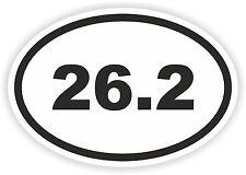 Autocollant OVAL marathon 26,2 Runner mile km run casque de cycliste Voiture Camion Bateau pare-chocs
