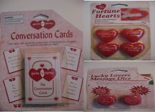 Lovers Gifts--LUCKY LOVER MESSAGE DICE, Conversation Cards. fortune hearts NEW