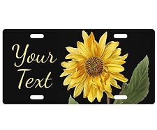 CUSTOM LICENSE PLATE - PERSONALIZED - SUNFLOWER 1 - ANY TEXT FREE