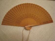 Vintage Wooden Fan W/ Cut Out Design