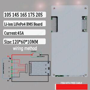 10S 14S 16S 17S 20S 45A LiFePo4 LFP Li-ion LIPO Battery Protection BMS Board