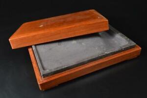 T8496: Chinese Stone INKSTONE Suzuri Calligraphy tool.