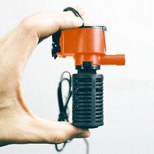 Mini 3 in 1 Aquarium Filter Submersible Oxygen Internal Fish Tank Air Water Pump