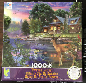 Ceaco Weekend Retreat Jigsaw Puzzle 1000 Piece - used. All Pieces Intact