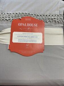 opalhouse Queen Cotton percale sheet set 100% cotton gray