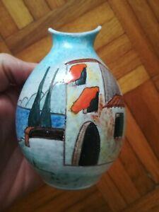 Keramik Krug Vase HUBER ROETHE Keramische Werkstatt Achdorf Landshut 1950 er