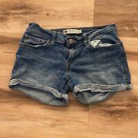 Levi's Women's Size 27 Cuffed Jeans Shorts Stretch Denim 5 pockets low rise