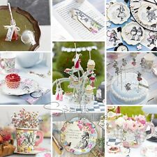 TRULY ALICE IN WONDERLAND TEA PARTY TABLEWARE RANGE- Mad Hatter Decorations