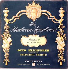 EMI COLUMBIA UK Beethoven KLEMPERER Symphony #7 w/Inner Sleeve 33CX-1379 EX+