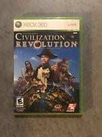 Sid Meier's Civilization Revolution Microsoft Xbox 360, 2008 w/ Manual