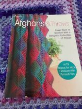 Annie's Knitting Afghans & Throws. 11 Projects. Very Good Condition.
