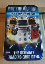 Doctor who Monster Invasion Cards approx 70 plus tin