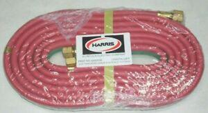 """Harris 4300556 Oxy-Acetylene Twin Welding Hose 3/16 x 12' w B-B 9/16"""" Fittings"""