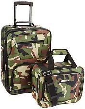 Rockland 2 PC Camouflage LUGGAGE SET F102-Camouflage Luggage Set NEW
