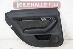 Audi A6 C6 4F Türverkleidung hinten links Alcantara Leder schwarz 4F0867305K