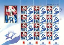 ISRAEL 2015 DUAL FLAG SERIES SWITZERLAND & ISRAEL SHEET MNH