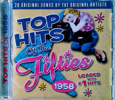 TOP HITS OF THE FIFTIES 1958 - COLLECTABLES CD - 20 ORIGINAL HITS