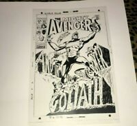 The Avengers Goliath Thor Iron Man Vision Hawkeye Cover Production Art Acetate