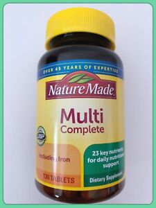 NATURE MADE Multi Complete with Iron & Key Nutrients 130 Tablets Nov 2022 $15