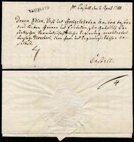 1788, BAYREUTH, kompletter Teilfranko-Brief nach Castell