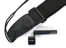 ELECTRIC OR ACOUSTIC GUITAR STRAP IN BLACK PLUS FREE STRING WINDER SX S40